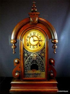 c 1880s Antique Ansonia Clock Parisian Mantle Parlor Clock WORKS PERFECTLY!