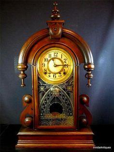 c 1880s Antique Ansonia Clock Parisian Mantle Parlor Clock WORKS PERFECTLY