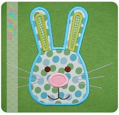 Bunny Head3 Applique Design