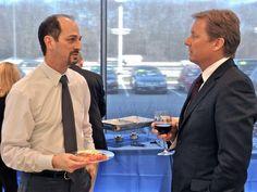 Henrik Fisker speaking with new Fisker owner Henrik Fisker, Fields