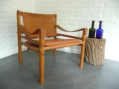 Arne Norell Safari Chair model 'Sirocco' Lounge Chair leather