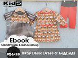 """100 fach genäht, 100 fach gern getragen!  """"*Baby-Basic-Dress*"""" ist ein Schnittmuster/Anleitung für ein klassisches Babykleid mit amerikanischen Ausschnitt. Für alle kleinen Mädchen die gern..."""