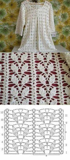 Patron punto Crochet Imagen Punto de hojas a häkeln muy fácil y rápido para b . Patron punto Crochet Imagen Punto de hojas a häkeln muy fácil y rápido para b . Crochet Bolero Pattern, Gilet Crochet, Crochet Diy, Crochet Jacket, Crochet Diagram, Crochet Stitches Patterns, Crochet Chart, Crochet Cardigan, Crochet Motif