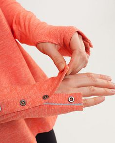 idea is for cutting off sweatshirt sleeve knit cuff, slit up sleeve a ways, hem for placket and then snap or button edges Cut Off Sweatshirt, Sweat It Out, Polo T Shirts, Couture, Athletic Outfits, Sport Wear, Hand Warmers, Fashion Details, Sports Women