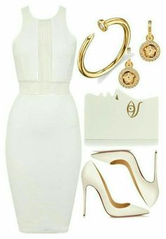 ❤ featuring Christian Louboutin, Charlotte Olympia, Versace and Sydney Evan Lila Outfits, White Outfits, Classy Outfits, Runway Fashion, Fashion Models, Fashion Outfits, Womens Fashion, Fashion Trends, Petite Fashion