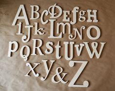 Unfinished Wooden Alphabet Set  Wooden by GalleryWoodLetters, $85.00