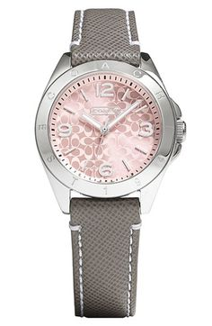 'Tristen' Saffiano Leather Strap Watch, 32mm  | Coach