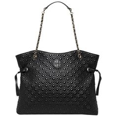 477e7467802c Pre-owned Tory Burch Marion Quilted Leather Slouchy Handbag Black Tote... (