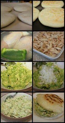 Chicken & Avocado Arepas #amolosaguacates