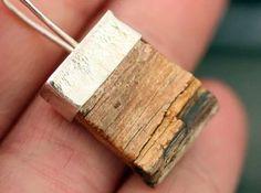 Aros plata y madera