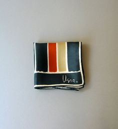 Vintage Vera Neumann Silk Scarf  Modernist Stripes by luola