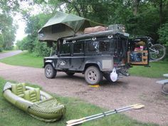 // Camping with Land Rover Defender 110 in South Dakota