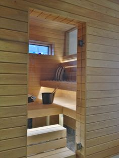 JANEN HIMASSA: sauna Garage Doors, Shelves, Outdoor Decor, Home Decor, Shelving, Decoration Home, Room Decor, Shelving Units, Home Interior Design