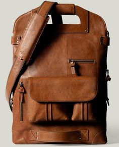 gorgeous tan leather bag