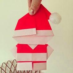 Orangevertevintage Père Noel en origami