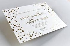 Foil invitations