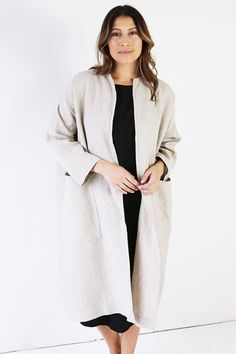 I like that this is made in America, and that it's not polyester. The price isn't bad considering. But every piece in their plus-sized line looks like a sack on the models, yet. This coat looks like a bathrobe!