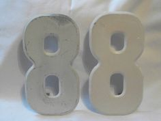 Industrial Chic Metal Sign Board Number   by DistressedDonna, $8.00