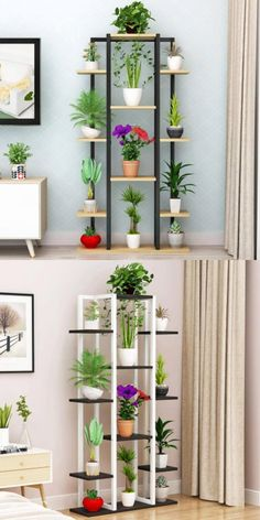 Wooden Plant Stands, Diy Plant Stand, Outdoor Plant Stands, Indoor Plant Shelves, House Plants Decor, Flower Stands, Iron Decor, Home Room Design, Diy Room Decor