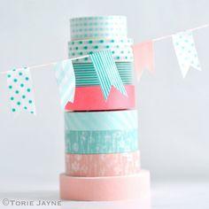 washi tape bunting 25 Fresh New Ways To Use Washi Tape