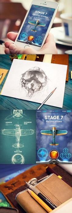 iOS game prototypes & concepts by Mike, via Behance