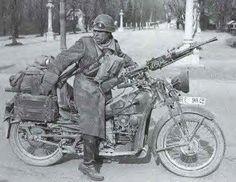 Russian WWII motorcycle trooper.