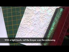 Glitter Highlighted Embossing Tutorial - Splitcoaststampers