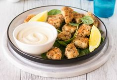 Easy AND Healthy Chicken Nuggets for Kids Make your own healthy, delicious alternative to fast food chicken nuggets with this quick and easy recipe!