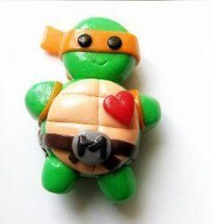 1 X Ninja Turtles Magnet by TheCraftyButtonUK on Etsy, £4.00