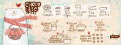 They Draw and Cook // Chocolate Potato by Dinarar Mirtalipova. I just love that little bear, man.