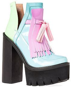 Jeffrey Campbell The O-Quinn Shoe in Black Glow Multi on shopstyle.com