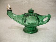 Vintage Avon Bottle, Aladdin's Lamp, Jeannie Bottle, Collectible Avon Decanter, 70s Avon,. $8.50, via Etsy.