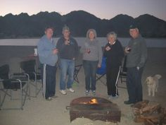 Around the fire at Cahiulla lake