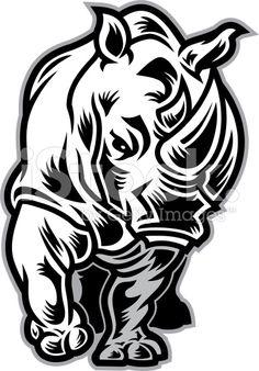 Rhino Charging stock vector art 11527192 - iStock