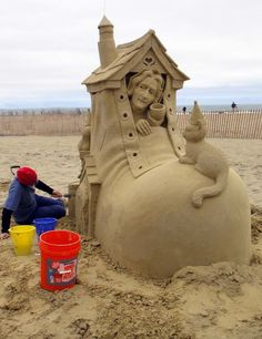 Sand Sculpting, Hampton Beach, New Hampshire, USA Hampton Beach, Snow Sculptures, Sculpture Art, Ice Art, Snow Art, Grain Of Sand, Land Art, Beach Art, New Hampshire