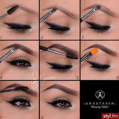 #MakeUp Howto #eyebrows #anastasiabeverlyhills #Pictorial - bellashoot.com