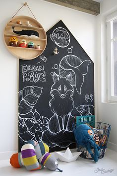 Chalkboard house for kids contemporary bedroom ideas