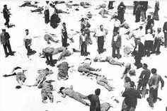 El patio del Cuartel de la Montaña repleto de cadáveres/ Alfonso- Guerra en Madrid: Diez fotografías impactantes de la Guerra Civil Española