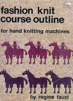 """Link to a book review of """"Fashion knit course outline"""" by Regine Faust. The review is in German and English, by kind permission from Kerstin of the Strickforum blog."""