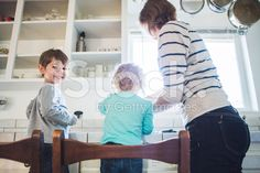 Children Baking Cookies with Mom royalty-free stock photo