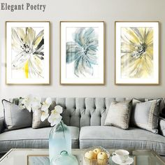 """""""Flowers Watercolor Abstract Canvas Art Painting Print Poster Picture Wall Nordic Style Living Room Bedroom Modern Home Decor"""" Abstract Canvas Art, Abstract Watercolor, Canvas Art Prints, Painting Prints, Bedroom Modern, Living Room Bedroom, Bed Room, Canvas Wall Decor, Home Decor Wall Art"""