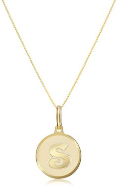 Yellow Gold Initial Pendant Necklace, ** Be sure to check out this awesome product.