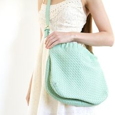 Vegan Leather Messenger Mint, $85, now featured on Fab.