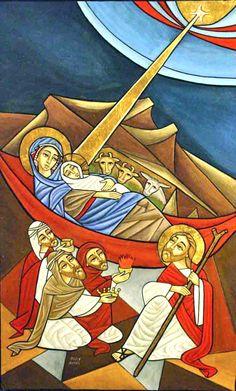 Contemporary Coptic Icon: Christmas