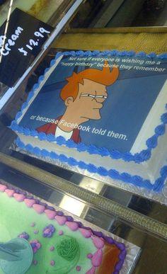 Fry, birthday cake