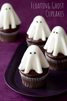 Floating ghost cupcakes will make all the ghouls come out to the Halloween party. These cute fondant treats are easy to make, even the little witches and storm troopers can help.