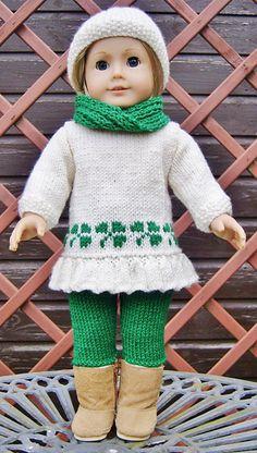 Ravelry: American Girl Doll St Patricks Day Sweetheart Set pattern by Jacqueline Gibb