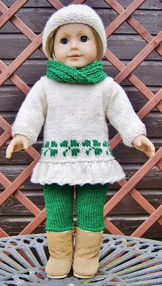 Ravelry: American Girl Doll St Patricks Day Sweetheart Set pattern by Jacqueline Gibb