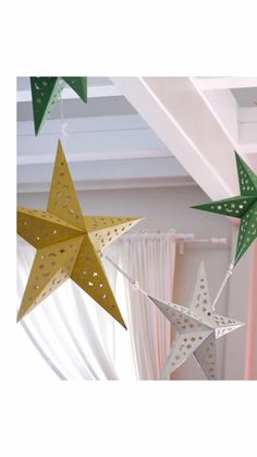 We're absolutely love finding new ways to display our star lanterns! Available in two sizes and three colors, try stringing them together to create a beautiful entryway display! #daysofeid