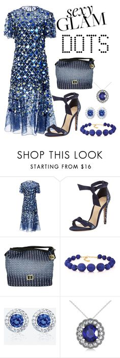 """""""Sequin Dots"""" by freida-adams ❤ liked on Polyvore featuring Prabal Gurung, Alexandre Birman, Christian Lacroix, Kenneth Jay Lane and Allurez"""